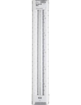 4m Wrap 3pk - Silver Snowflake