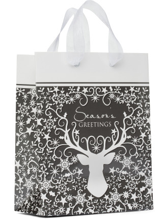 Bag Med - Silver & White Stag Head
