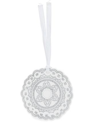 Gtags 10pk - Silver & White Crochet