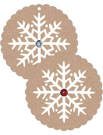 Tag Gift Snowflake Sequin Pk10