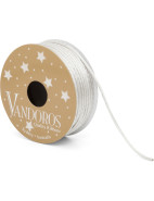 Ribbon Glitter Cord Silver 2mm X 10m $7.95