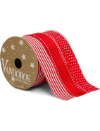 Ribbon Multi Red/White 3 Pack $14.95