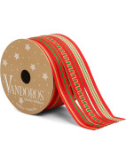 Ribbon Multi Classic Red/Green 3pk $14.95