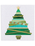 Card Gift Ribbon Tree Pk10 $4.99