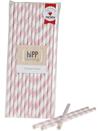 Party Paper Straws 25 Pack