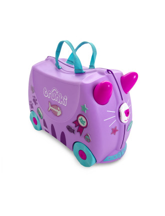 Cassie Purple Cat Ride on Suitcase