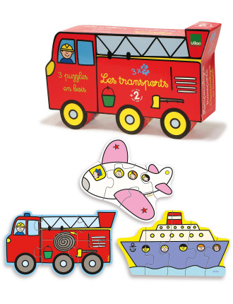 Fire Truck 3 Wood Puzzles