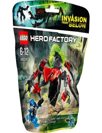 Hero Factory Tunneler Beast vs. Surge