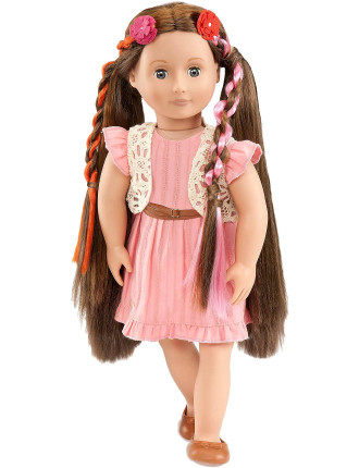 Brunette Hair Grow Doll