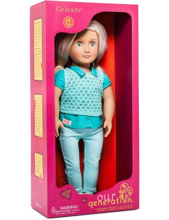 18' Non Poseable Doll Celeste