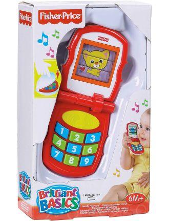Brilliant Basics Friendly Flip Phone