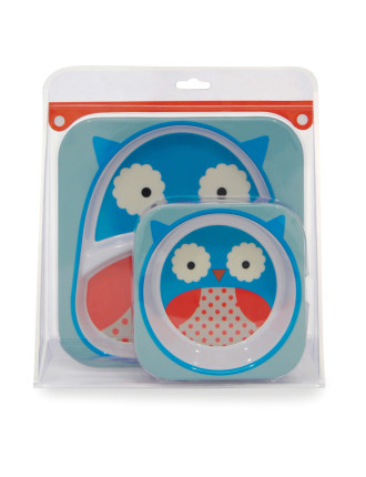 Owl Zoo Melamine Set