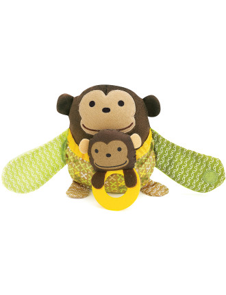 Monkey Hug & Hide Stroller Toy