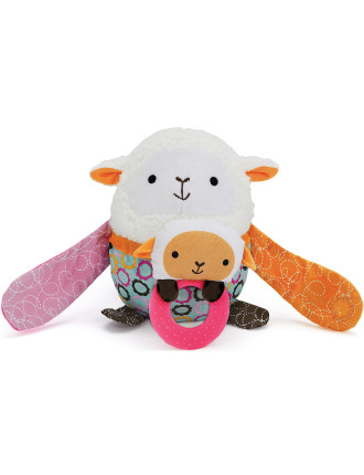 Lamb Hug & Hide Stroller Toy