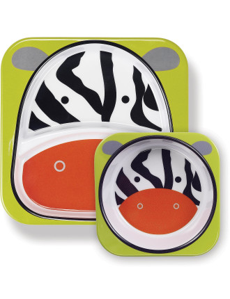 Zebra Zoo Melamine Set