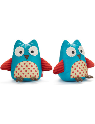 Owl Zoo Bookends