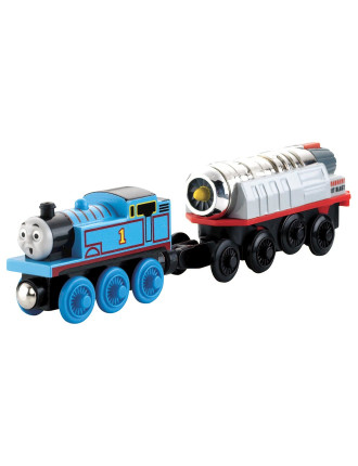 Woodenbattery Operated Thomas + Cargo