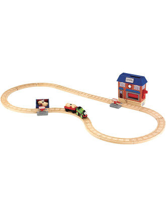 Wooden Percy & Mail Battery Operated Playset