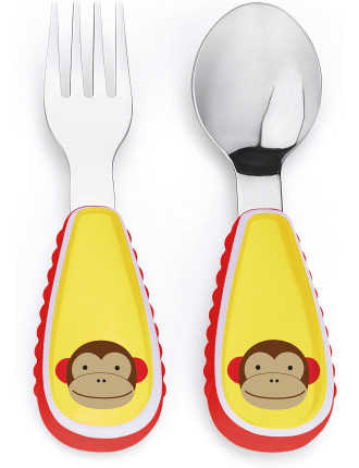 Monkey Zoo Utensil Set