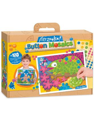 Iguana & Gorilla Button Mosaics