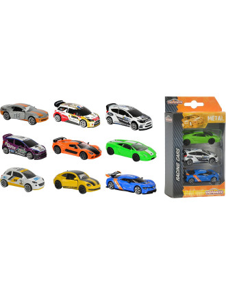 3 Pack Racing Diecast Vehicles Assorted