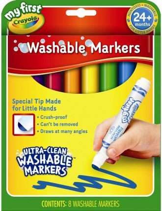Crayola 8 My First Washable Round Nib Markers