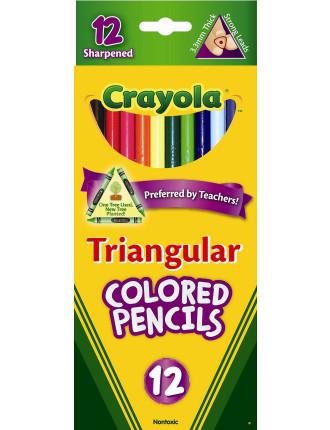Crayola 12 Full Size Triangular Colored Pencils