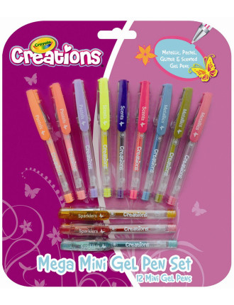 Crayola 12 Mega Mini Gel Pens