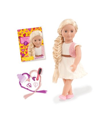 Phoebe blonde Hair Grow Doll