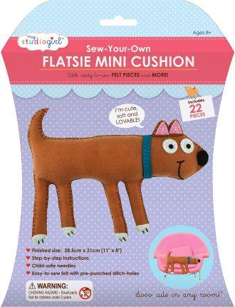 My Studio Girl Sew Your Own Flatsie Mini Cushion Dog