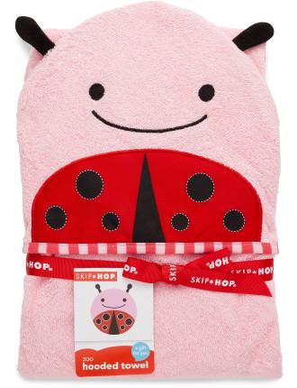 Ladybug Zoo Hooded Towel