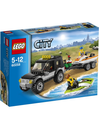 City Suv With Watercraft