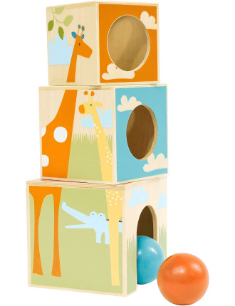 Giraffe Safari Nest & Play Blocks