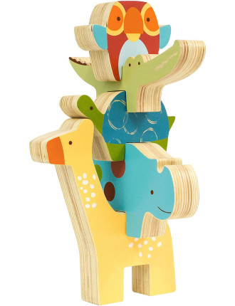 Giraffe Safari Stacking Animal Blocks