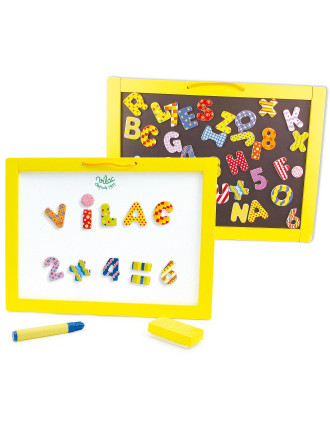 Vilac Wooden Magnetic Chalkboard + Magnets