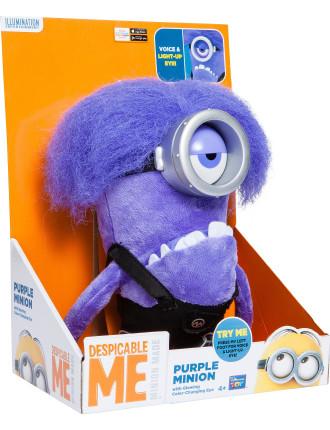 Despicable Me 2 Purple Minion Electronic Plush