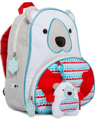 Polar Bear Zoo Backpack Set