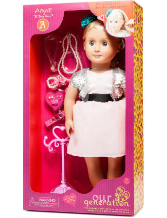 Anya 18' non Poseable Doll With Jewelery