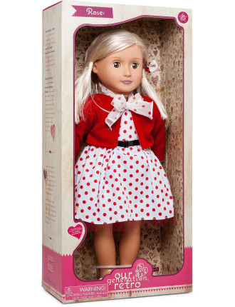 Rose retro 18' non Poseable Doll