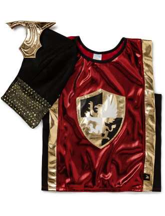 Little Adventures Red Knight Vest And Gold Helmet
