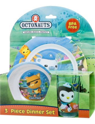 Octonauts 3 Piece Melamine Set