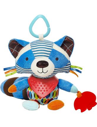 Raccoon Bandana Pals Stroller Toy