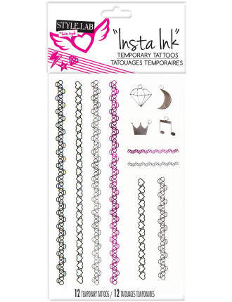 Insta Ink Temporary Tattoos Assorted