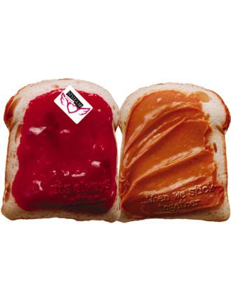 Peanut Butter & Jelly Bff Pillow Set