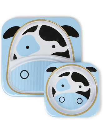 Cow Zoo Melamine Set