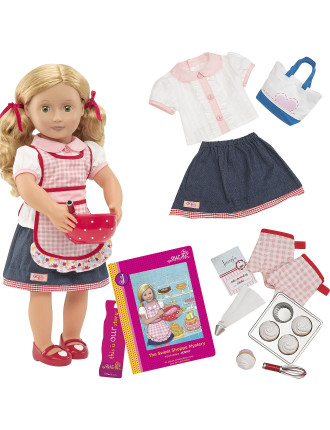 Jenny 18' posable doll With Book