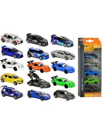 5 Pack Diecast Racing Vehicles Assorted