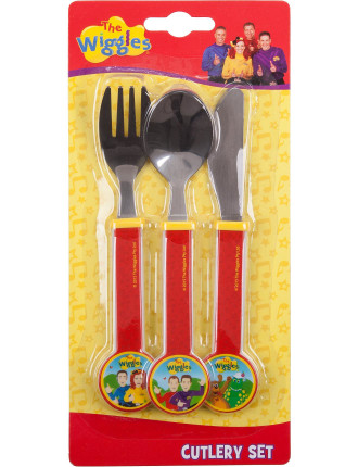 The Wiggles 3 Piece Cutlery Set