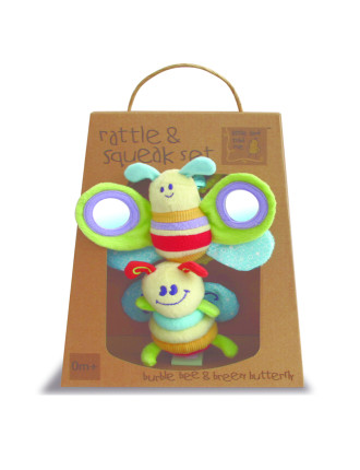 Rattle & Squeak Set - Bee & Butterfly