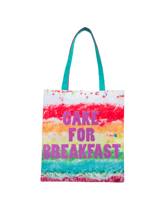 Cake For Breakfast Photo Real Tote